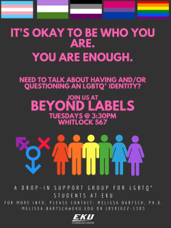 Beyond Labels Support Group Flyer